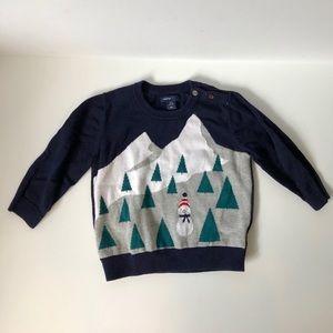 Baby Gap snowman sweater